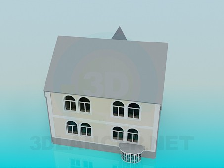 3d modeling House model free download