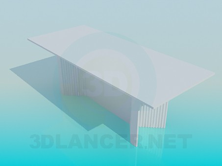 3d model Big table - preview