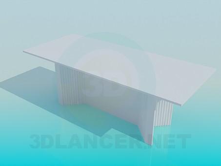 modelo 3D Mesa grande - escuchar