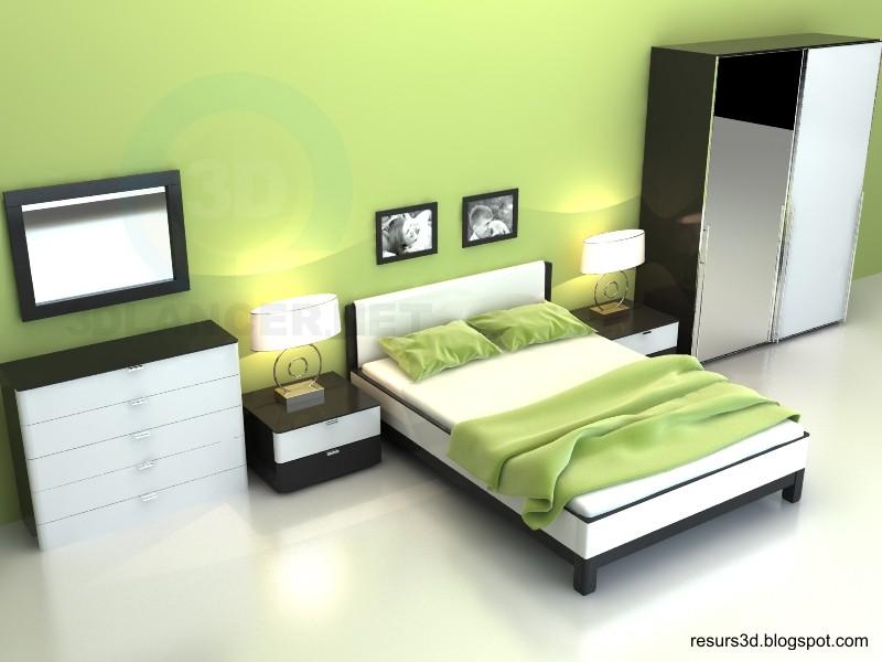 3d модель спальня Лусета – превью