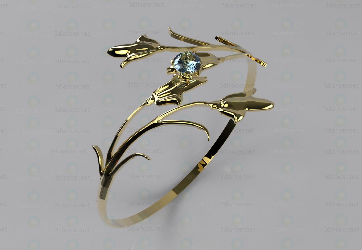 """3d model Ring """"Lily"""" - preview"""