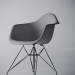 3d Chair Eames DAR White model buy - render