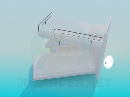 3d модель Двухярусная кровать – превью