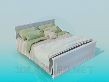 3d моделювання Ліжко з постіллю і покривалом модель завантажити безкоштовно