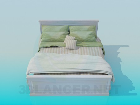 3d model Bed with cover - preview