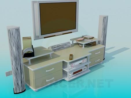 3d модель Домашний кинотеатр – превью