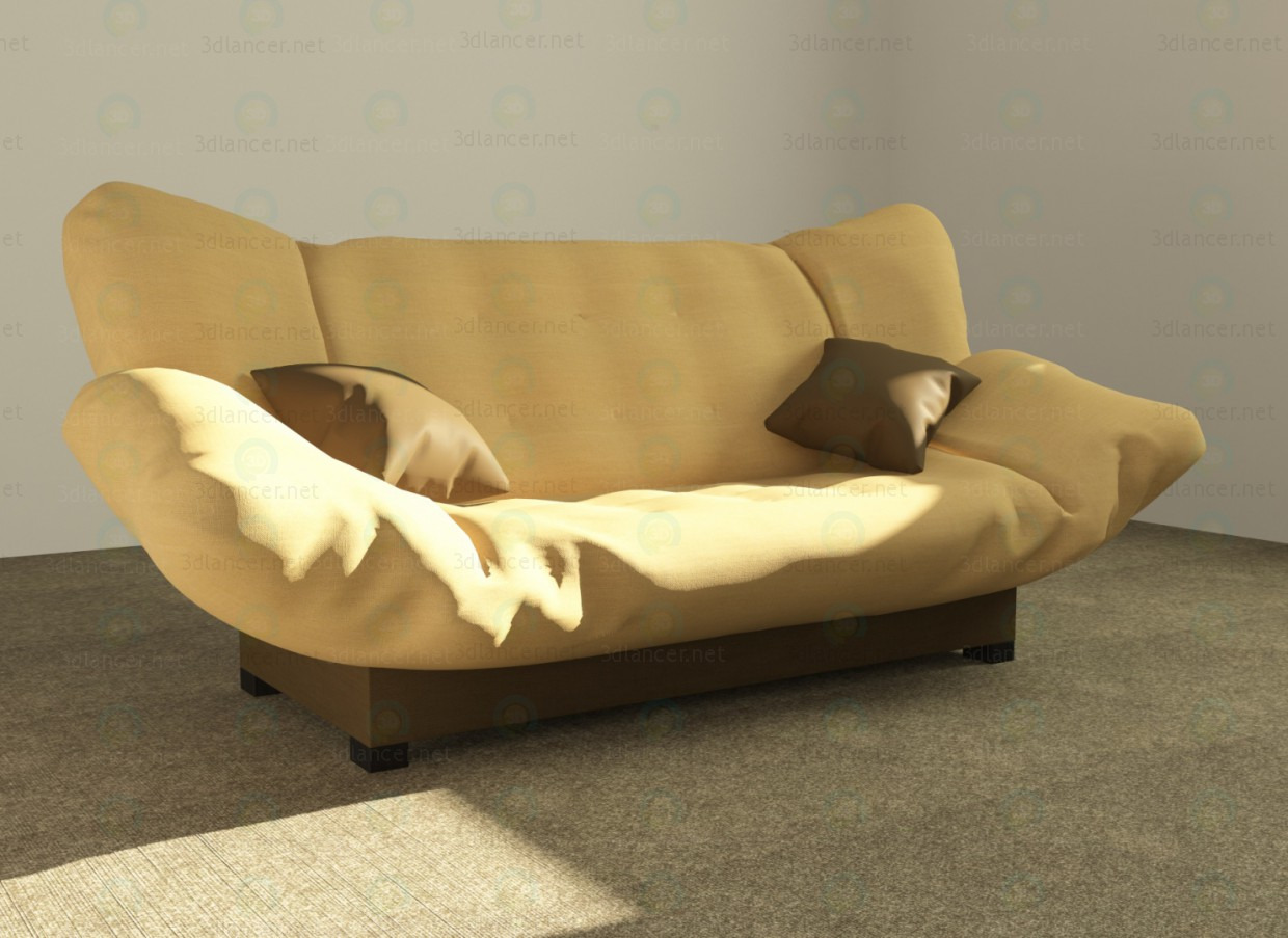 "3d Sofa ""click-Klak"" fabric model buy - render"