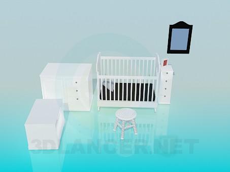 modello 3D Set di mobili per bambini - anteprima