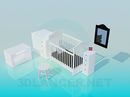 3d модель Набор детской мебели – превью