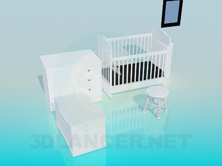 3d model Set children's furniture - preview