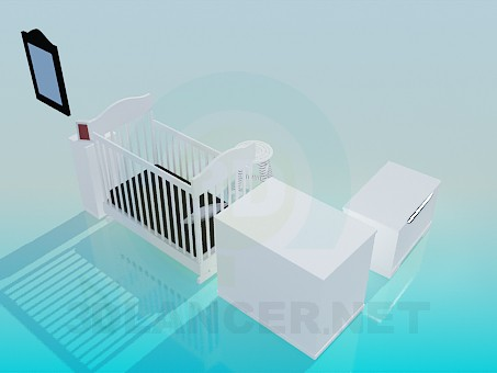modelo 3D Juego de muebles para niños - escuchar