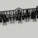 3d Two-storey building 1-452-4 model buy - render