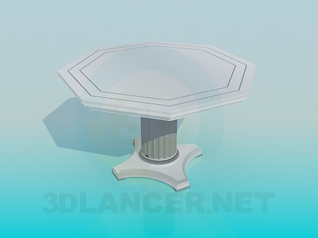 3d model A table on one leg - preview