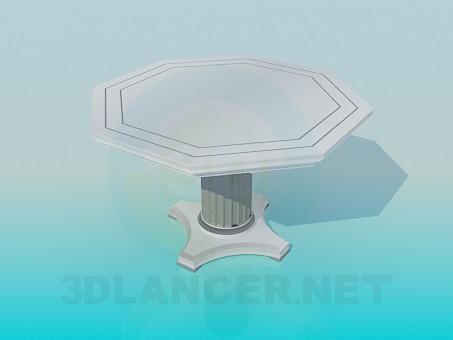 modelo 3D Una mesa sobre una pierna - escuchar
