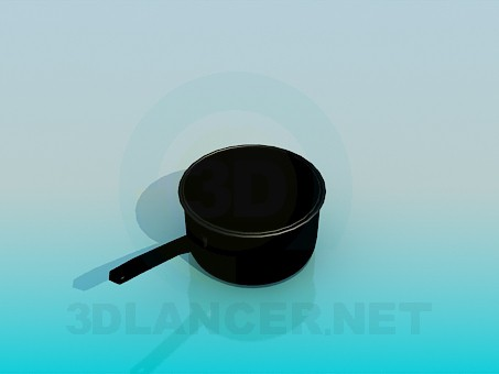 3d model Deep pot - preview