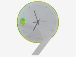 Wall clock with backlight in the form of nine