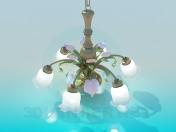 Люстра- белые колокольчики