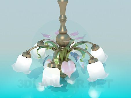 3d model Chandelier-white bells - preview