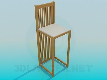 3d модель Оригінальний стілець – превью