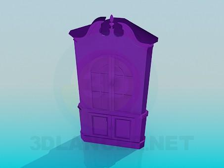 3d модель Угловой шкаф-сервант – превью