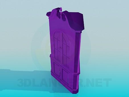 3d model Corner cupboard sideboard - preview