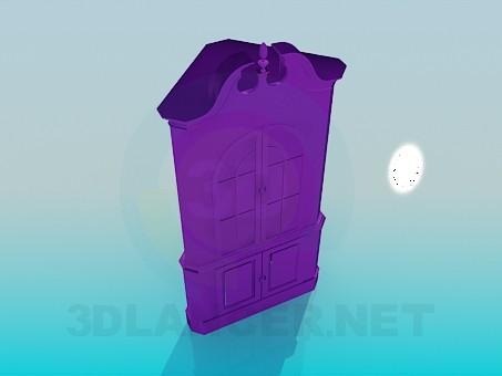 modelo 3D Aparador armario de esquina - escuchar