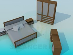 The furniture in the bedroom