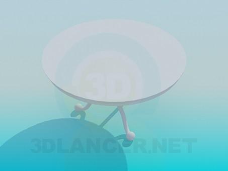 3d модель Круглий столик – превью