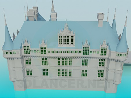 3d модель Дворец – превью