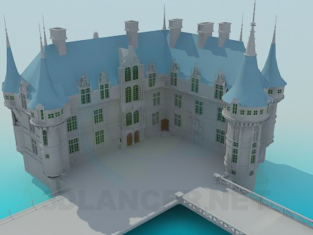 3d model Palace - preview