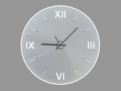 Round wall clock with backlight and Roman numerals