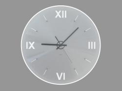 Orologio da parete rotondo con retroilluminazione e numeri romani