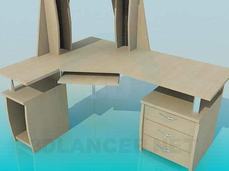 3d моделирование Компьютерный стол модель скачать бесплатно