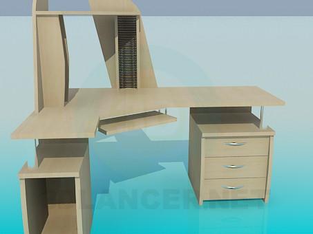 modelo 3D Escritorio de la computadora - escuchar