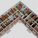 3d House corner 1-452-5 model buy - render