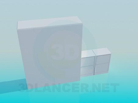 3d модель Шкафчик для книг – превью