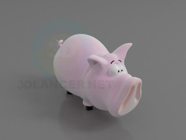 3d модель Свинка – превью