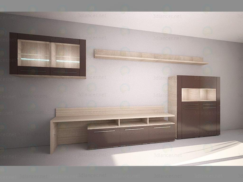 modelo 3D Caso muebles Solo - escuchar