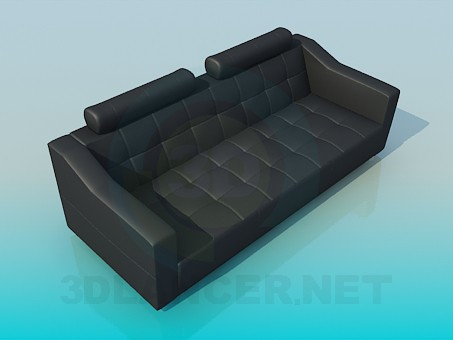 3d model Leather sofa - preview