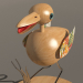 3d model Bird souvenir - preview