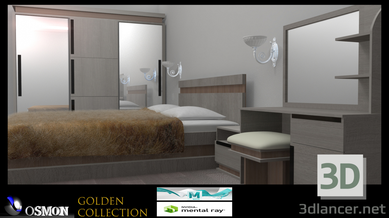 3d Gold collection number 5 model buy - render