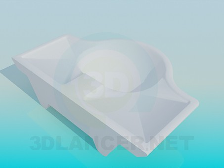 3d model Wash basin with recessed - preview