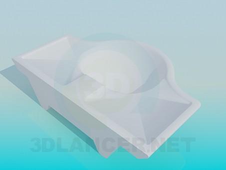 modelo 3D Lavabo con empotrado - escuchar