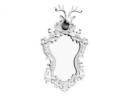 Deer mirror White 53x35