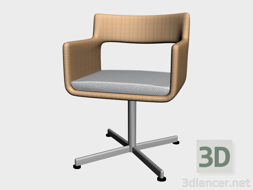 3d model Dining chair Dinning Armchair Swivel 8810 8815 - preview