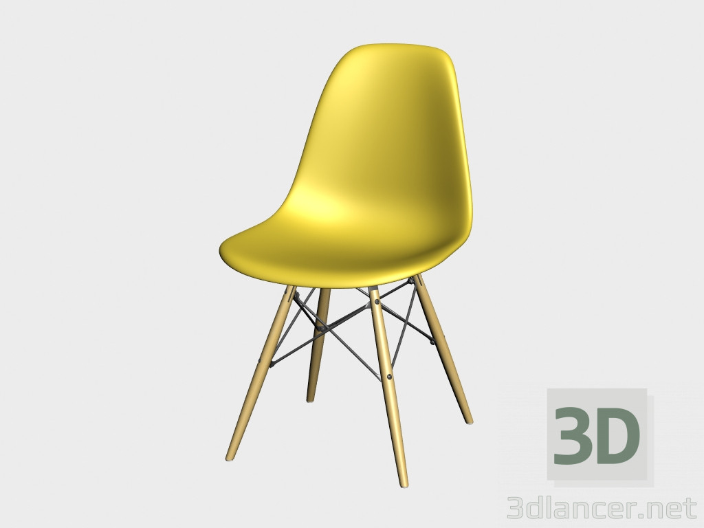 3d model chair eames plastic side chair dsw manufacturer vitra id 18064. Black Bedroom Furniture Sets. Home Design Ideas
