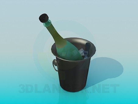 3d model Champagne in an ice vedertse - preview