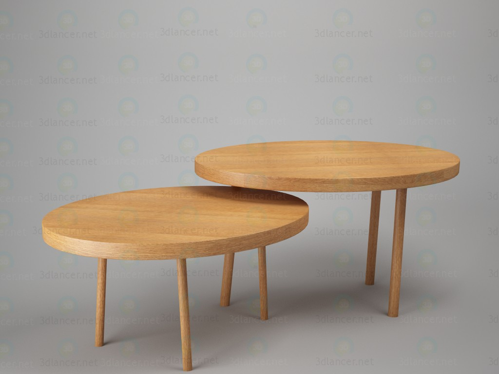 3d model Table double - preview