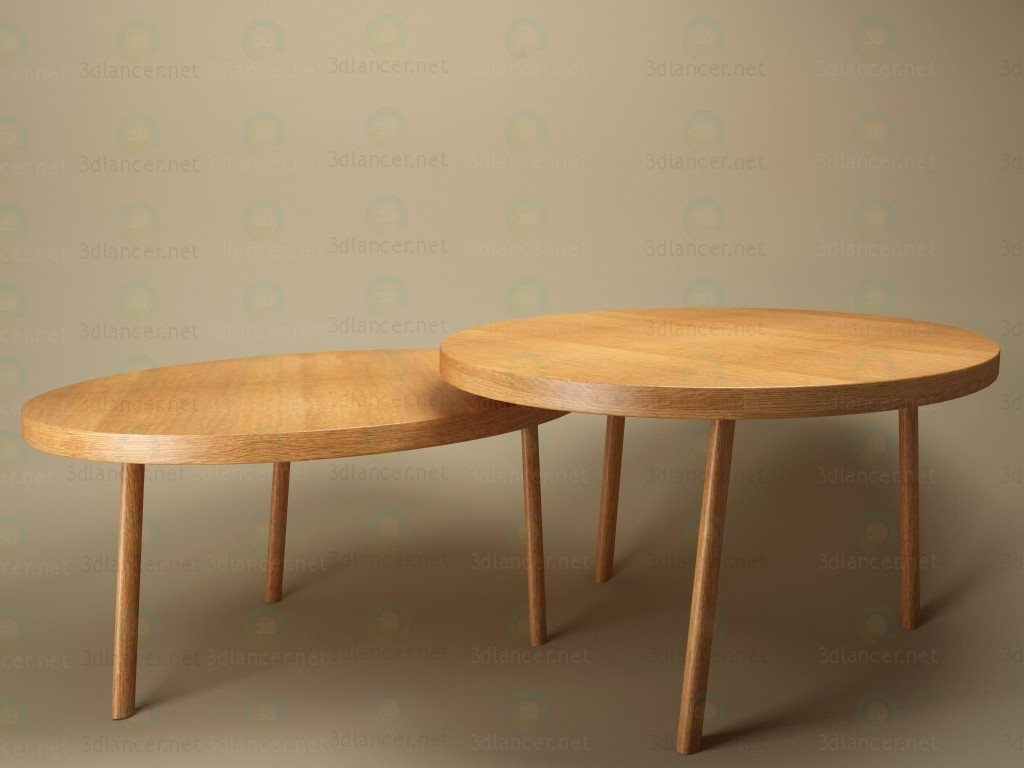 3d model table double in the style of scandinavian id 11640 for Table 3d model