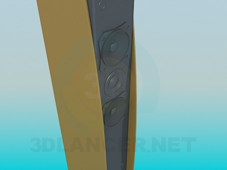 modelo 3D Altavoz - escuchar